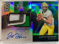 2020 Panini Spectra Chronicles. Justin Herbert 2/2 Rookie Patch Auto. 🔥🔥🔥📈