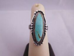 Native American Indian Bell Trading Co Sterling Silver Turquoise Stone Ring