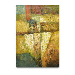 NY Art Modern Abstract 24x36 Heavy Textures Original Oil Painting On Sale