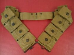 Wwi Us Army Dismounted M1917 Cartridge Belt For M1903 Rifle - Marked Long 1918 3