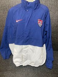 Vtg Nike Us Soccer Olympic National Team Usa Sz L Jacket Made In Usa