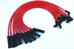10.5mm Spark Plug Wires Set 90 To Straight For Chevy Sbc Bbc 350 383 400 454 V8