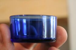 Rare Antique Cobalt Blue Salt Cellar Liner1 1/4and039and039 H X 1 3/4and039and039 W Itema-2315