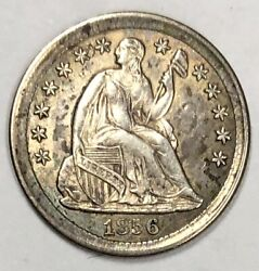 1856 Liberty Seated Half Dime 5c About Uncirculated
