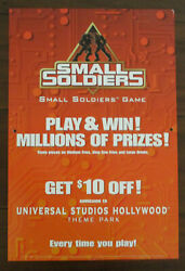 Small Soldiers Burger King Promotional Game Sign 1998 Universal Studios Park