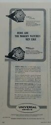 1950 Universal Geneve Town And Country Self Winder Men's Watch Vintage Ad