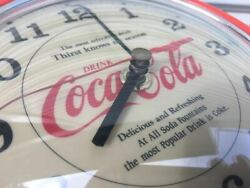 Rare Coca-cola Dome Wall Clock Old Car High Speed Leaded Mooneyes Neon Garage