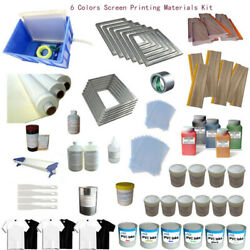 Multifunctional And Convenient 6 Colors Screen Printing Materials Kit