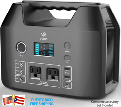 Portable Power Station Android Apple Solar Ac/dc Charge 500w Emergency Generator