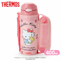 Hello Kitty Sanrio Thermos Covered Straw Bottle 400ml / Limited Brand New / Cute