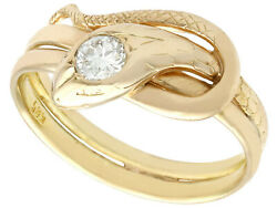 0.25ct Diamond And And039snakeand039 Menand039s Solitaire Ring - Antique Circa 1900