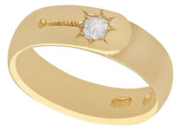 Antique Victorian 0.19 Ct Diamond And 18carat Yellow Gold Menand039s Solitaire Ring