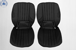 Seat Covers Fits Porsche 911 Year 1972-1973 Black Real Leather