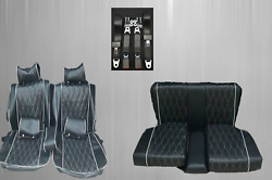 Seat Covers + Back Seat + Seat Belts, Zaga Special For Mercedes Sl R/w107