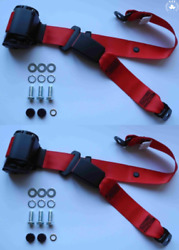 Dreipunkt Automatic Seat Belt Set Rear For Volvo Pv, 1800, Red