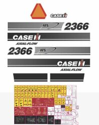Case Ih 2366 Harvester Decals / Adhesives / Stickers Compatible Complete Set