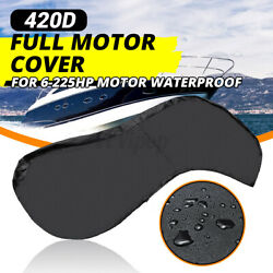 420d Full Outboard Yacht Boat Engine Cover For 6 - 225hp Motor Oxford Waterproof