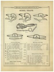1899 Paper Ad Newhouse Rare Hawley And Norton Victor Grizzly 6 5 Bear Traps Trap