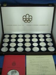 1976 Canada Olympic Complete Set 14 X 5 14 X 10 Sterling Silver 28 Coins Nice