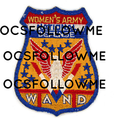 Ww2 Wwii Us Home Front Wand Women's Army National Defense Patch Ssi Seen 2