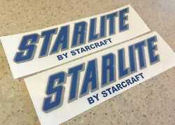 Starlite By Starcraft Vintage Boat Camping Trailer Decals 12 + Free Shipping