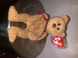 Ty Curly The Bear Beanie Baby 1993 New Condition Rare Grammar Issues In Swing Ta
