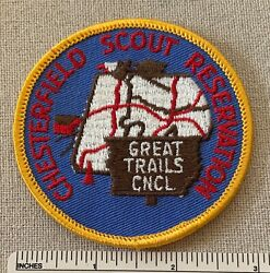 Vintage Chesterfield Reservation Boy Scout Camp Patch Great Trails Council Ma