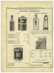 1899 Paper Ad 3 In 1 Three In One Bicycle Oil Cork Stopper Bottle Chain Lube +