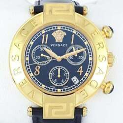 Versace Men New Reve Chronograph In Gold Q5c Supports Charity