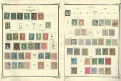 Caribbean Stamp Collection 1855-1898 On 5 Scott Specialty Pages, Spanish, Jfz