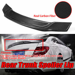 R Carbon Fiber Rear Spoiler Trunk Wing For Benz W204 C200 C63 Amg Coupe 2011-15