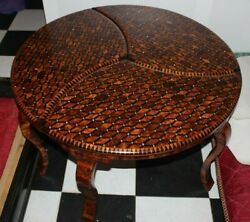 Big Hand-crafted Wooden Table Made Of Thuya Wood,decorative Wood Table For Home