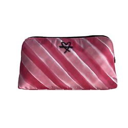 Victoria's Secret Beauty Bag Glam Cosmetic Purse Makeup Pink And White Stripes $15.00