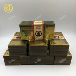 1000pcs One Hundred Trillion Dollars Zimbabwe Gold Banknote With 100 Certificate
