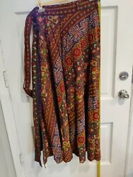 Indian Cotton Skirt Wrap Around Style LONG
