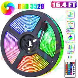 Flexible 3528 Rgb Led 300 Smd Strip Light Remote Fairy Lights Room Tv Party Bar