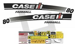 Case Ih Farmall 80 Tractor Decals / Stickers Compatible Complete Set / Kit