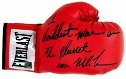 Iron Mike Tyson Baddest Man Autographed Signed Everlast Boxing Glove Asi Proof