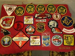 Large Lot Of Patches Gold Wing Harley Davidson Ryder American Truckers Assoc