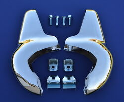 57 Chevy Accessory Front Bumper Guards With Mounting Hardware 1957 Chevrolet