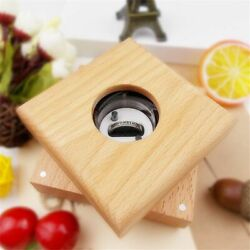 Wedding Rings Box Jewelry Handmade Wooden Rotating Boxes Carrying Cases Gift New