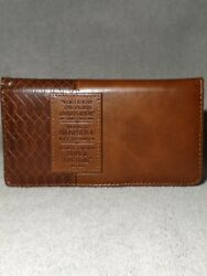 Checkbook Wallet Leather $5.99