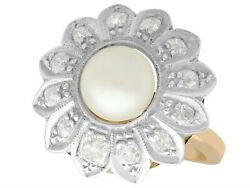 Antique Pearl And 0.66ct Diamond 18ct Yellow Gold Dress Ring Circa 1920
