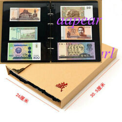 120 Pockets Album 3 Pocket Double Sided Thick Page Holder Banknote Bill Stamp