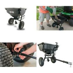 85 Lb. Broadcast Spreader Tow Behind Lawn Tractor For Seed And Fertilizer New