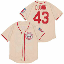 Jimmy Dugan 43 Baseball Jersey Movie Rockford Peaches Tom Hanks Stitched 3 Color