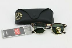 Ray Ban Clubmaster Sunglasses Polarized Tortoise Gold 51 21 3N Brown 3016 $90.00