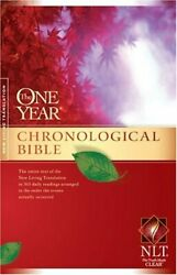 The One Year Chronological Bible Nlt One Year Bible Nlt 9781414314082 New..