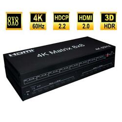 Hdmi Matrix 8x8 With Edid Rs232 Ir Remote Control 3d For Hdtv Stb Dvd Multimedia