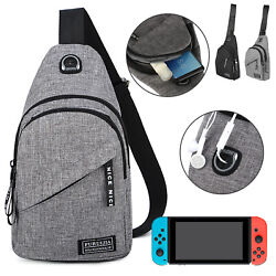 Sling Mens Chest Sport Travel Backpack Crossbody Handbag Shoulder for Nintendo $12.98